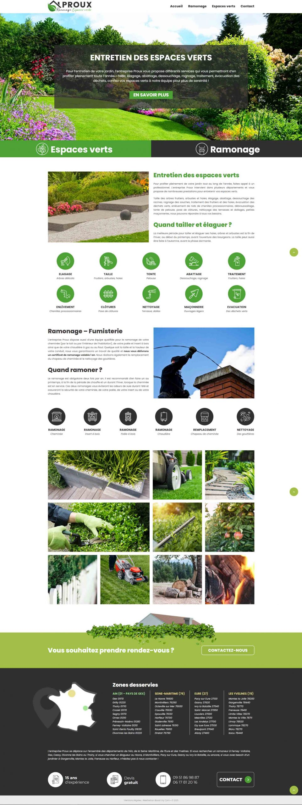 Proux ramonage espaces verts